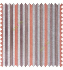 Orange brown silver color combination with silver base color vertical embossed stripes texture finished surface polyester main curtain