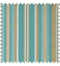 Blue brown silver color vertical embossed mixed of bold and pencil stripes with texture finished surface soft touch polyester main curtain