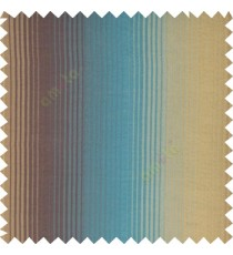 Blue gold brown color vertical embossed stripes texture finished surface polyester main curtain