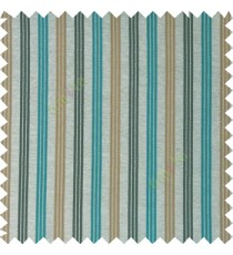 Blue brown silver color combination with silver base color vertical embossed stripes texture finished surface polyester main curtain