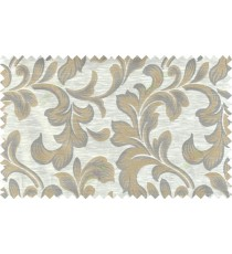 Beige brown colour traditional pattern with thick background fab polycotton main curtain designs