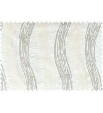 Beige grey white colour vertical wavy stripes polycotton main curtain designs
