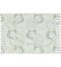 Beige grey white colour seamless geometric circle pattern polycotton main curtain designs