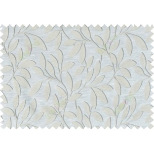 Beige grey cream colour leafy pattern with thick background fab polycotton main curtain designs