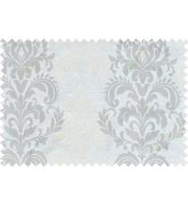 Beige grey cream color seamless elegant damask pattern polycotton main curtain designs