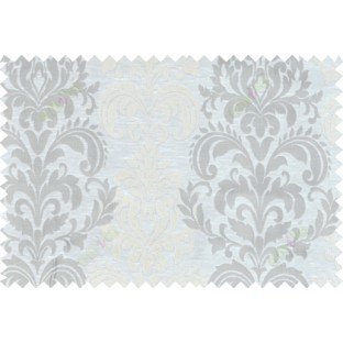 Beige grey cream color seamless elegant damask pattern polycotton main curtain designs
