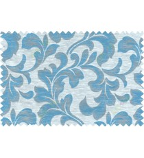 Blue beige grey colour traditional pattern with thick background fab polycotton main curtain designs