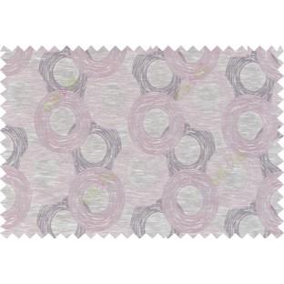 Pink beige brown colour seamless geometric circle pattern polycotton main curtain designs