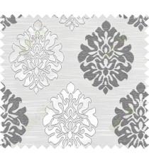 Black beige colour traditional damask design polycotton main curtain designs
