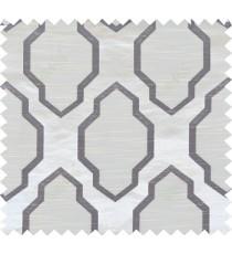 Black beige colour ogee pattern polycotton main curtain designs