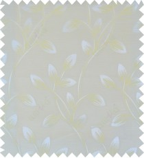 Beige yellow white colour beautiful natural floral design polycotton main curtain designs