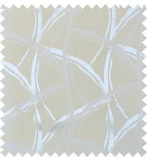 Beige yellow white colour grass leaf patter polycotton main curtain designs