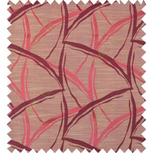 Maroon yellow black colour grass leaf patter polycotton main curtain designs