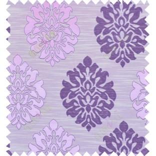 Pink purple beige colour traditional damask design polycotton main curtain designs