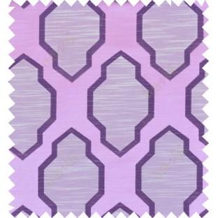Pink purple beige colour ogee pattern polycotton main curtain designs