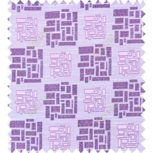 Pink purple beige colour geometric design polycotton main curtain designs
