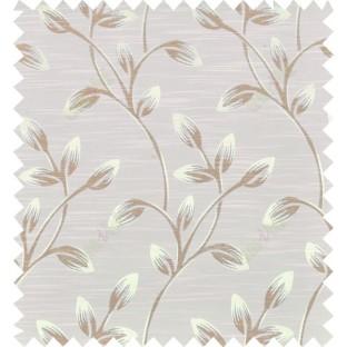 Brown beige colour beautiful natural floral design polycotton main curtain designs