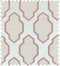 Brown beige colour ogee pattern polycotton main curtain designs