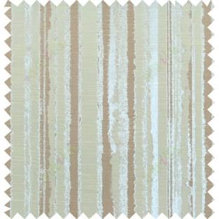 Brown beige colour vertical texture stripes polycotton main curtain designs