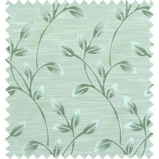 Green beige colour beautiful natural floral design polycotton main curtain designs