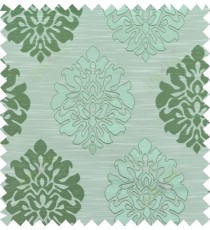 Green beige colour traditional damask design polycotton main curtain designs