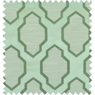 Green beige colour ogee pattern polycotton main curtain designs