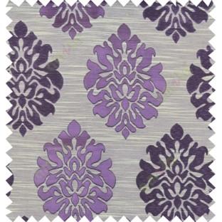 Purple beige black colour traditional damask design polycotton main curtain designs
