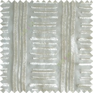 Cream color horizontal and vertical embroidery stripes with transparent background sheer curtain
