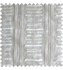 Pure white color horizontal and vertical embroidery stripes with transparent background sheer curtain