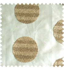 Gold color geometric circles shapes texture finished embroidery designs with transparent background horizontal stripes sheer curtain