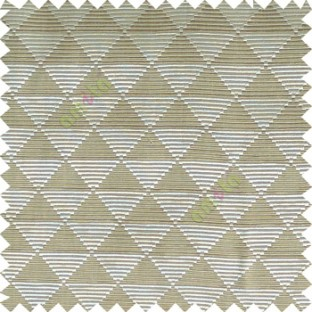 Beige cream color geometric triangle shapes horizontal lines texture finished dice slant crossing stripes polyester main curtain