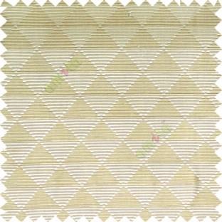 Beige color geometric triangle shapes horizontal lines texture finished dice slant crossing stripes polyester main curtain