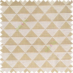 Brown beige color geometric triangle shapes horizontal lines texture finished dice slant crossing stripes polyester main curtain