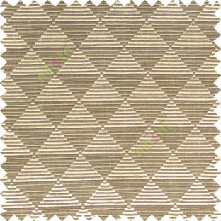 Brown black beige color geometric triangle shapes horizontal lines texture finished dice slant crossing stripes polyester main curtain