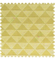 Green color geometric triangle shapes horizontal lines texture finished dice slant crossing stripes polyester main curtain