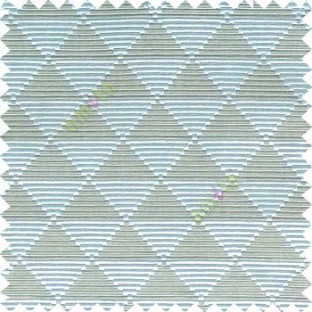 Blue grey color geometric triangle shapes horizontal lines texture finished dice slant crossing stripes polyester main curtain