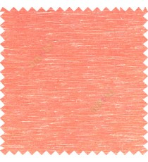 Orange color solid plain designless surface with transparent background horizontal lines polyester sheer curtain