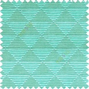 Aqua blue grey color geometric triangle shapes horizontal lines texture finished dice slant crossing stripes polyester main curtain