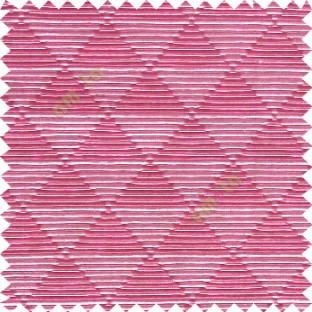 Pink grey color geometric triangle shapes horizontal lines texture finished dice slant crossing stripes polyester main curtain
