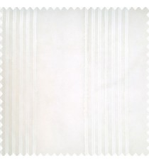 Cream color transparent fabric texture finished surface vertical bold group stripes sheer curtain