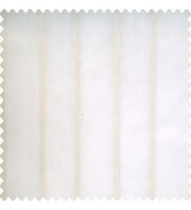 Cream color transparent background with beige vertical texture finished parallel bold stripes polyester sheer curtain