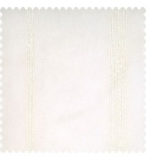 Cream color texture finished surface vertical stripes transparent fabric polyester sheer curtain