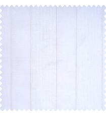 White color complete texture finished vertical bold stripes with brown color borders transparent fabric sheer curtain