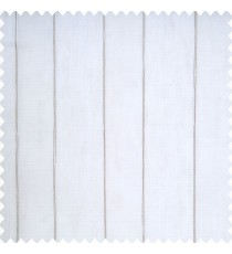 White color complete texture finished vertical bold stripes with grey color borders transparent fabric sheer curtain