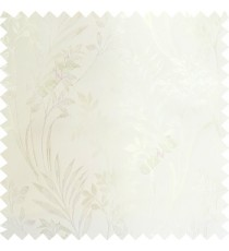 Cream color beautiful design floral pattern texture finished surface with smooth background main curtain fabric
