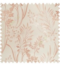 Brown beige color beautiful design floral pattern texture finished surface with smooth background main curtain fabric
