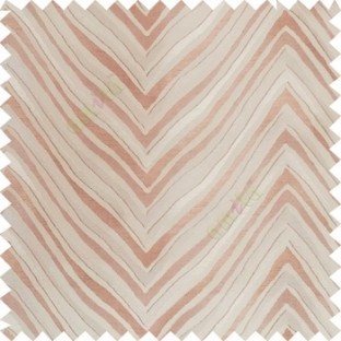 Brown beige color zigzag pattern fluctuating lines texture up and down lines with smooth finished background polyester main curtain fabric