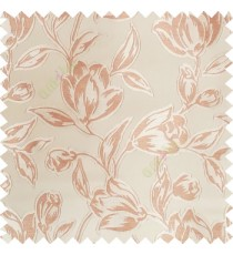 Brown color Beautiful flower pattern texture finished designs smooth finished background polyester main curtain fabric