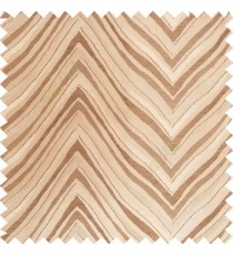 Brown and gold color zigzag pattern fluctuating lines texture up and down lines with smooth finished background polyester main curtain fabric