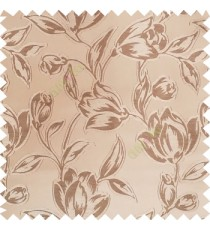 Brown and gold color Beautiful flower pattern texture finished designs smooth finished background polyester main curtain fabric